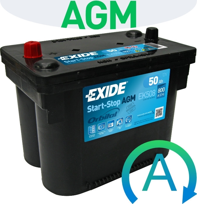 Exide AGM Start-Stop EK508